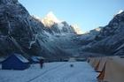 A cold campsite. Photo / Mark Inglis